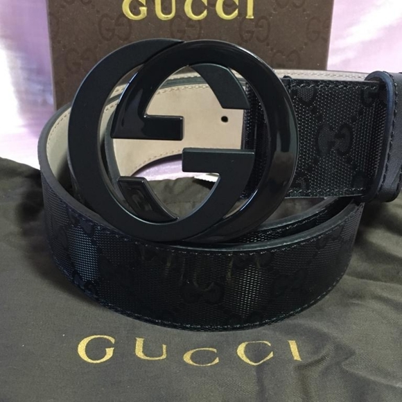 Other - Gucci Black Shiny Buckle